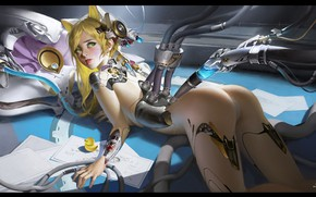 Picture fiction, robot, anime, art, ears, The sixth - term role boutique class-students work, Star Academy
