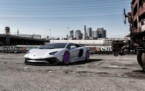 Picture Auto, Lamborghini, White, Machine, Car, Auto, Render, Aventador, Lamborghini Aventador, Rendering, Supercar, Sports car, Sportcar, …