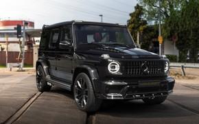 Picture photo, Mercedes-Benz, Black, Car, Inferno, SUV, Manhart, 2019, G-class, G 700