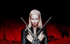 Picture look, girl, guns, Thriller, action, Anna, Anna, Luc Besson, Anna (2019)