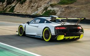 Picture Audi, Speed, Asphalt, Audi R8, GT2, LMS, Wing, 2020, Audi R8 LMS GT2