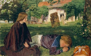 Picture 1862, Arthur Hughes, House by the sea