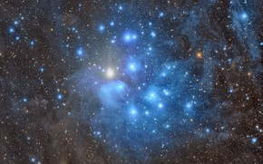 Picture stars, The Pleiades, M45, scattered star cluster