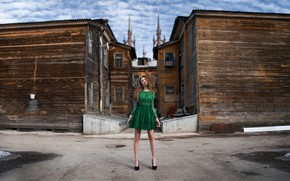 Picture look, girl, pose, background, model, portrait, home, makeup, figure, dress, hairstyle, shoes, brown hair, legs, …