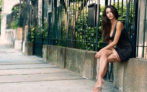 Picture look, sexy, model, hair, brunette, beauty, Nicole, figure, beautiful legs