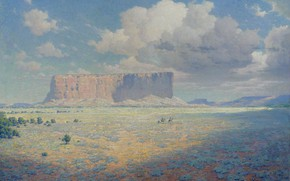Picture picture, 1911, William Robinson Lee, William Robinson Leigh, The Arizona landscape with two riders