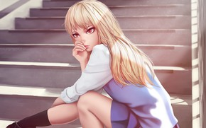 Picture girl, anime, art, Sakurasou no Pet na Kanojo