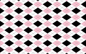 Picture white, background, pink, black, geometry, Wallpaper, diamonds, Background