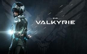 Picture skull, wings, the suit, pilot, battle, Valkyrie, spaceship, eve online, battle, valkyrie, space ship, coooper