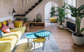 Picture room, interior, ladder, living room, Home^Dome, by I! Arquitectura