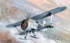 Picture Seagull, -153, THE SOVIET AIR FORCE, OKB Polikarpov, Soviet piston fighter, winter version
