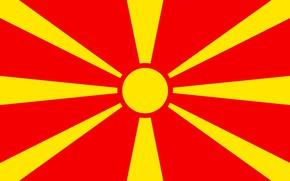 Picture flag, red, Macedonia, yellow, fon, flag, makedonija