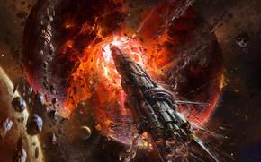 Picture Planet, Fantasy, Space, Spacecrafts, Art, Planet, Fiction, Asteroids, Spaceship, Spaceship, Destruction, Science Fiction, Asteroids, The …