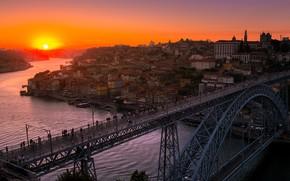 Wallpaper the city, Sunset, Porto