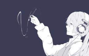 Picture background, handle, Hatsune Miku, Vocaloid, Vocaloid, Hatsune Miku