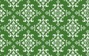 Picture background, texture, ornament, green background, vintage