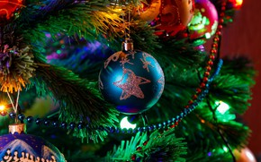 Picture balls, toys, tree, items, Alexei Chizhov