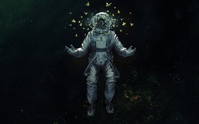 Picture Space, Wallpaper, Astronaut