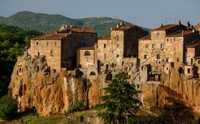 Picture rock, home, Italy, Tuscany, Pitigliano
