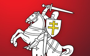 Picture Wallpaper, Chase, Coat of arms, Wallpapers, Pahonia, Belarus, Emblem, Belarus, BNR, Chase, Herb, Herbs, BNR