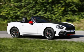 Picture Roadster, side view, spider, black and white, double, Abarth, 2016, 124 Spider