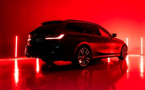 Picture light, red, background, lamp, BMW, 3-series, universal, the five-door, 3P, 2020, G21, M340i xDrive Touring