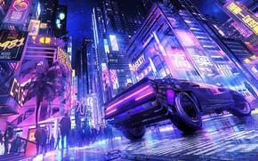 Picture car, supercar, japan, anime, art, street, cyberpunk, kanji, japanse