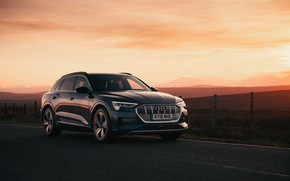Picture Audi, the evening, E-Tron, 2019, UK version