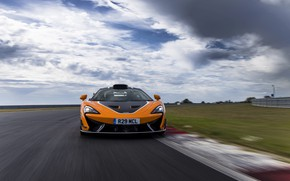 Picture coupe, McLaren, front, track, 2020, V8 twin-turbo, 620R, 620 HP, 3.8 L.