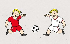 Wallpaper Minimalism, The ball, Football, Fallout, Art, Bethesda Softworks, Bethesda, Bethesda Game Studios, Vault Boy, Vault ...