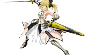Picture girl, white background, the saber, Fate stay night, Fate / Stay Night