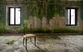 Picture room, window, chair, naturalism
