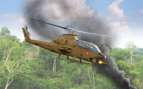 Picture USA, US Army, attack helicopter, Valery Petelin, the Vietnam war, Bell AH-1G Cobra Early US …