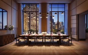 Picture interior, megapolis, New York, dining room, Banquet hall, 25 Park Row in Financial District