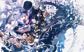 Picture anime, art, Alice, girl, sweets, Hatter, Alice in chedes does, Alise in wonderland