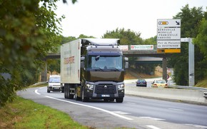 Picture movement, truck, Renault, tractor, highway, 4x2, the trailer, Renault Trucks, T-series