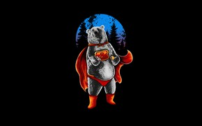 Picture Color, Minimalism, Style, Costume, Bear, Background, Art, Art, Style, Background, Minimalism, Hastaning Bagus Penggalih, by …