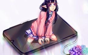Picture girl, elf, fantasy, mariam246810, смартофон