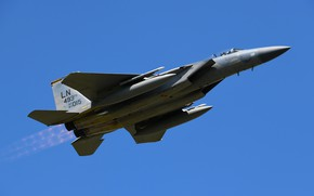 Picture UNITED STATES AIR FORCE, McDonnell Douglas F-15 Eagle, the fourth generation, American all-weather fighter