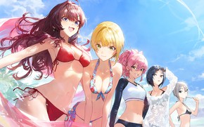 Picture girl, game, nipples, boobs, woman, big, breast, anime, beautiful, pretty, tits, asian, swimsuit, large, cute, …