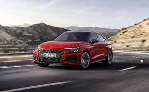 Picture audi, red, 4k, s3