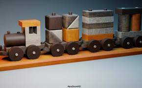 Picture toy, train, render, AlexStormND