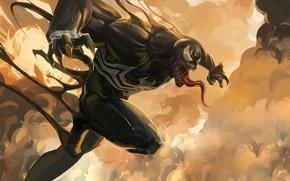 Picture Language, Teeth, Marvel, Venom, Venom, Symbiote, Creatures, Venom Fanart, by AXL KONG, AXL KONG