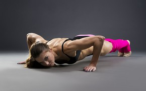 Picture girl, workout, fitness