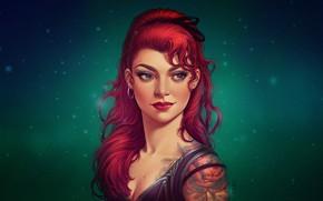 Picture Girl, Figure, Lips, Style, Face, Girl, Eyes, Portrait, Tattoo, Art, Beautiful, Art, Red, Beauty, Style, …