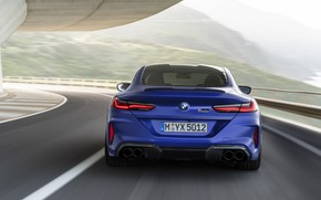 Picture BMW, supercar, rear view, Coupe, Competition, 8-Series, 2019, BMW M8, F92