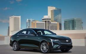 Picture roof, Cadillac, building, sedan, four-door, 2020, CT4