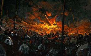 Picture dragon, fantasy, battle, by Anato Finnstark
