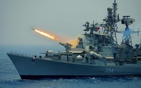 Picture ship, anti-submarine, the project 61мэ, ranvir, shooting рбу6000