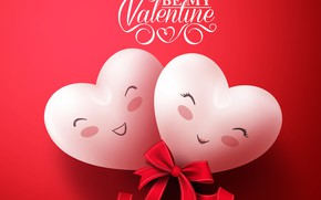 Picture love, romance, heart, bow, Valentine's Day